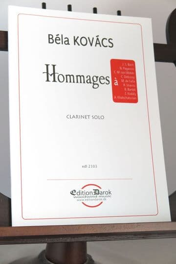 Kovacs B - Hommages for Clarinet Solo